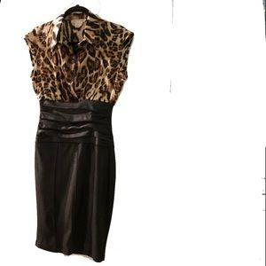 Dresses & Skirts - Jus d'Orange dress w/satiny leopard top